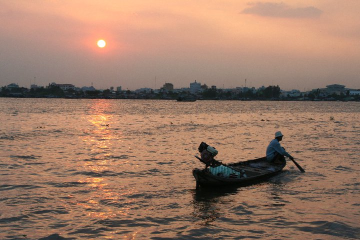 Sunset on Mekong River